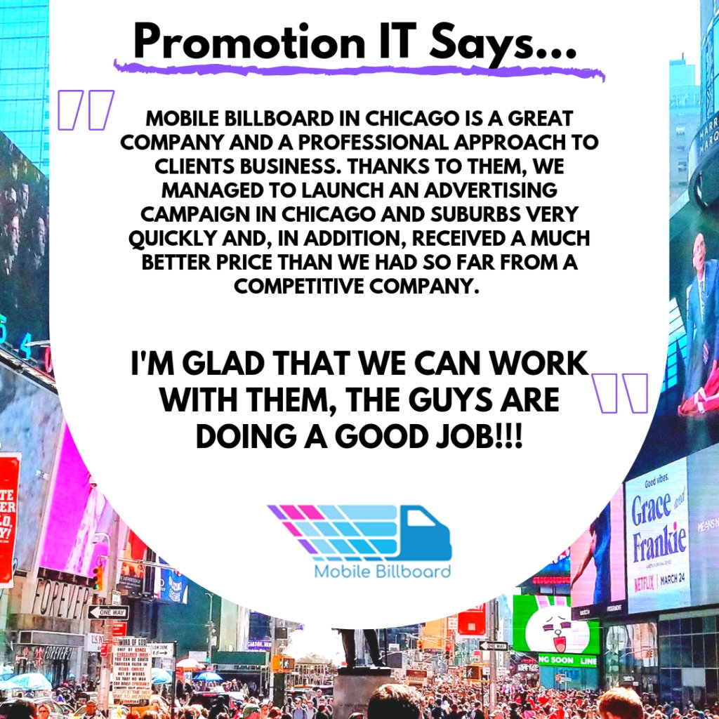 Promotion IT Testimonial 1024x1024 - What Do People Say About Mobile Billboard?