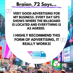 Mobile Billboard Testimonial