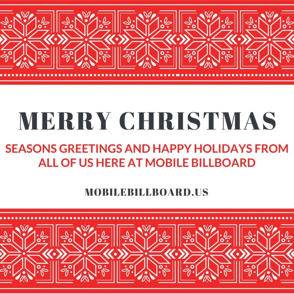 Merry Christmas and Happy Holidays From Mobile Billboard 1024x1024 - Merry XMas And Happy Holidays From Mobile Billboard!