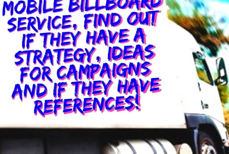 Mobile Billboard Tip 27