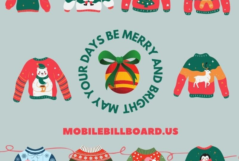 Merry Christmas - Mobile Billboard